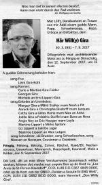 Décés Willy GIRA (Luxemburger Wort)